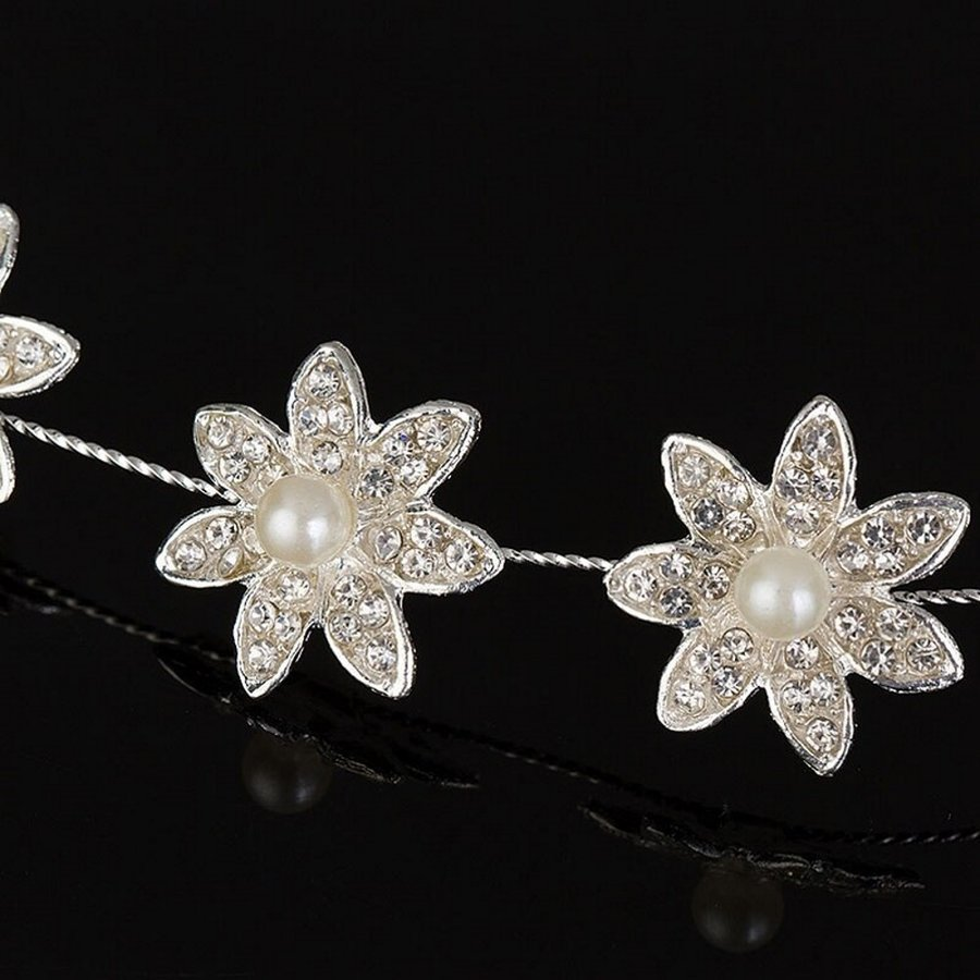 Prachtig Haar Sieraad met Parels en Diamanten-4