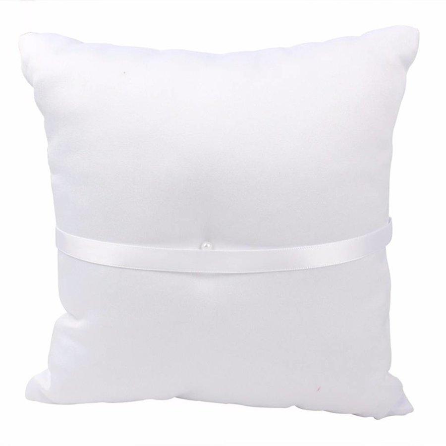 Grote Ringkussen- Wit - met fonkelende Hartjes-2