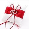 PaCaZa PaCaZa - Grote Ringkussen - Wit met Rood & Fonkelende Hartjes