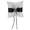 PaCaZa Ringkussentje - Wit - Zwart met fonkelende Hartjes