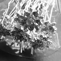 thumb-Zilverkleurige Hairpins – Flower - Diamantjes - 5 stuks-6