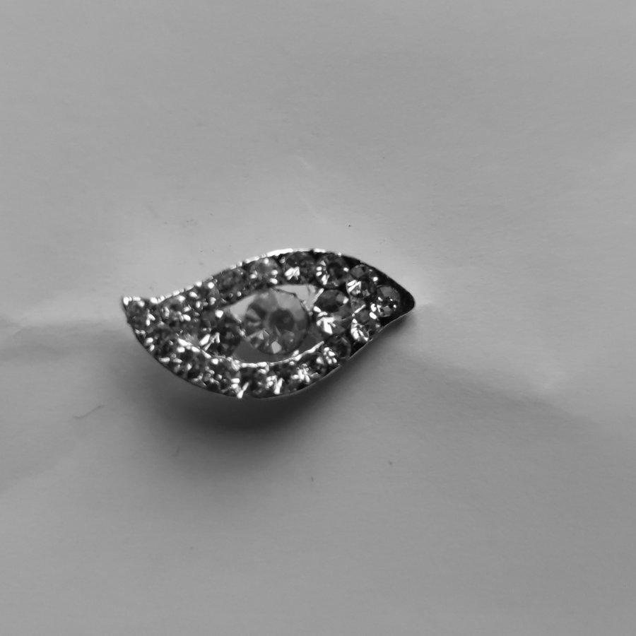 Moderne Zilverkleurige Hairpins met Diamantjes - Oog - 5 stuks-3