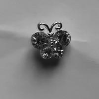 thumb-Zilverkleurige Hairpins – Vlindertje - Diamantjes - 5 stuks-4