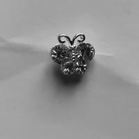 thumb-Zilverkleurige Hairpins – Vlindertje - Diamantjes - 5 stuks-5