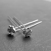 thumb-Zilverkleurige Hairpins – Vlindertje - Diamantjes - 5 stuks-3