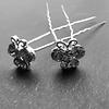 PaCaZa Zilverkleurige Hairpins – Vlindertje - Diamantjes - 5 stuks