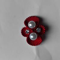 thumb-Zilverkleurige Hairpins – Rood - Diamantjes - Ivoorkleurige parel - 5 stuks-3