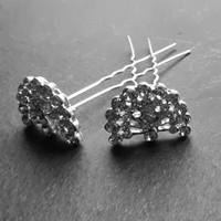 thumb-Zilverkleurige Hairpins – Pauw - Diamantjes - 5 stuks-5