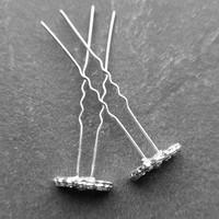 thumb-Zilverkleurige Hairpins – Pauw - Diamantjes - 5 stuks-6