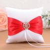 PaCaZa Ringkussen Wit en Rood met Fonkelende Diamant