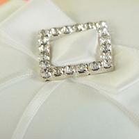 thumb-Ringkussen met Strik Fonkelende Diamant - Wit-4