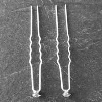 thumb-Zilverkleurige Hairpins - Fonkelende kristal - 5 stuks-4