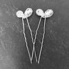 PaCaZa Zilverkleurige Hairpins - Hart met Fonkelende Diamant - 5 stuks