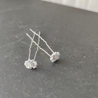thumb-PaCaZa - Zilverkleurige Hairpins - Flower met Diamantjes - 5 stuks-6