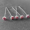 PaCaZa Haarstekers / Hairpins / Haarpins – Licht Roze Roosje - 5 stuks