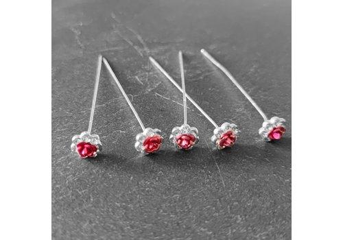 Haarstekers / Hairpins / Haarpins - Licht Roze Roosje - 5 stuks