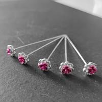 thumb-PaCaZa - Haarstekers / Hairpins / Haarpins - Roze Roosje - 5 stuks-3
