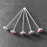 thumb-PaCaZa - Haarstekers / Hairpins / Haarpins - Roze Roosje - 5 stuks-7