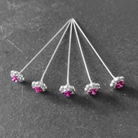 thumb-Haarstekers / Hairpins / Haarpins – Roze Roosje - 5 stuks-4
