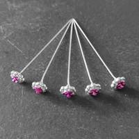thumb-PaCaZa - Haarstekers / Hairpins / Haarpins - Roze Roosje - 5 stuks-4