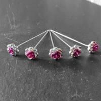 thumb-PaCaZa - Haarstekers / Hairpins / Haarpins - Roze Roosje - 5 stuks-1