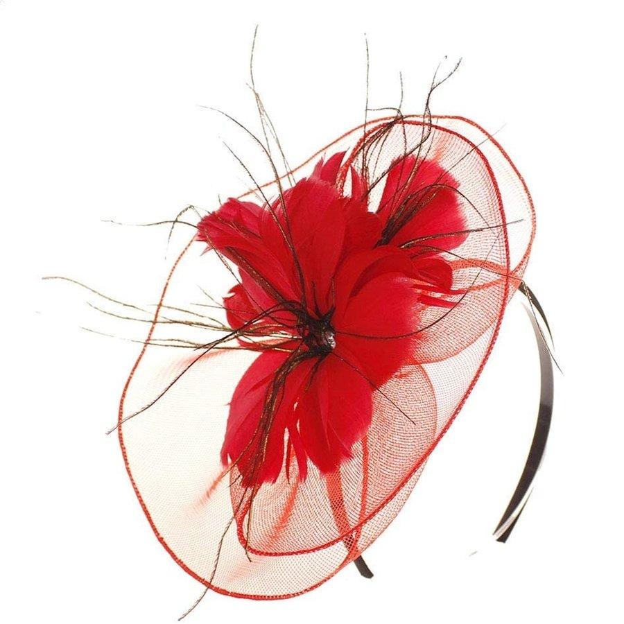 Moderne Fascinator / Haarband - Rood-1