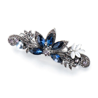 thumb-Elegante Haarclip - Blauw - Pauw-1