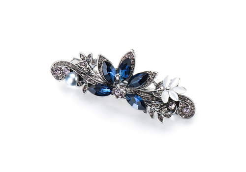 Elegante Haarclip - Blauw - Pauw