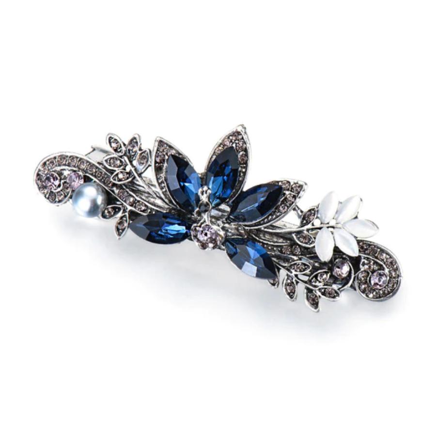 Elegante Haarclip - Blauw - Pauw-1