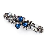 thumb-Chique Haarclip - Blauw-1