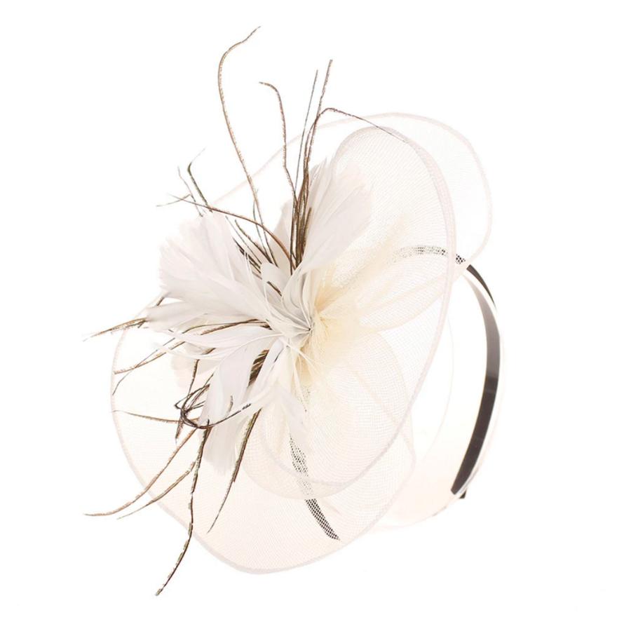 Moderne Fascinator / Haarband - Wit-1