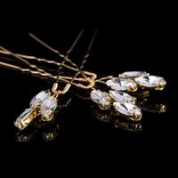 thumb-Goudkleurige Hairpins met Glimmende Diamanten - 2 Stuks-4