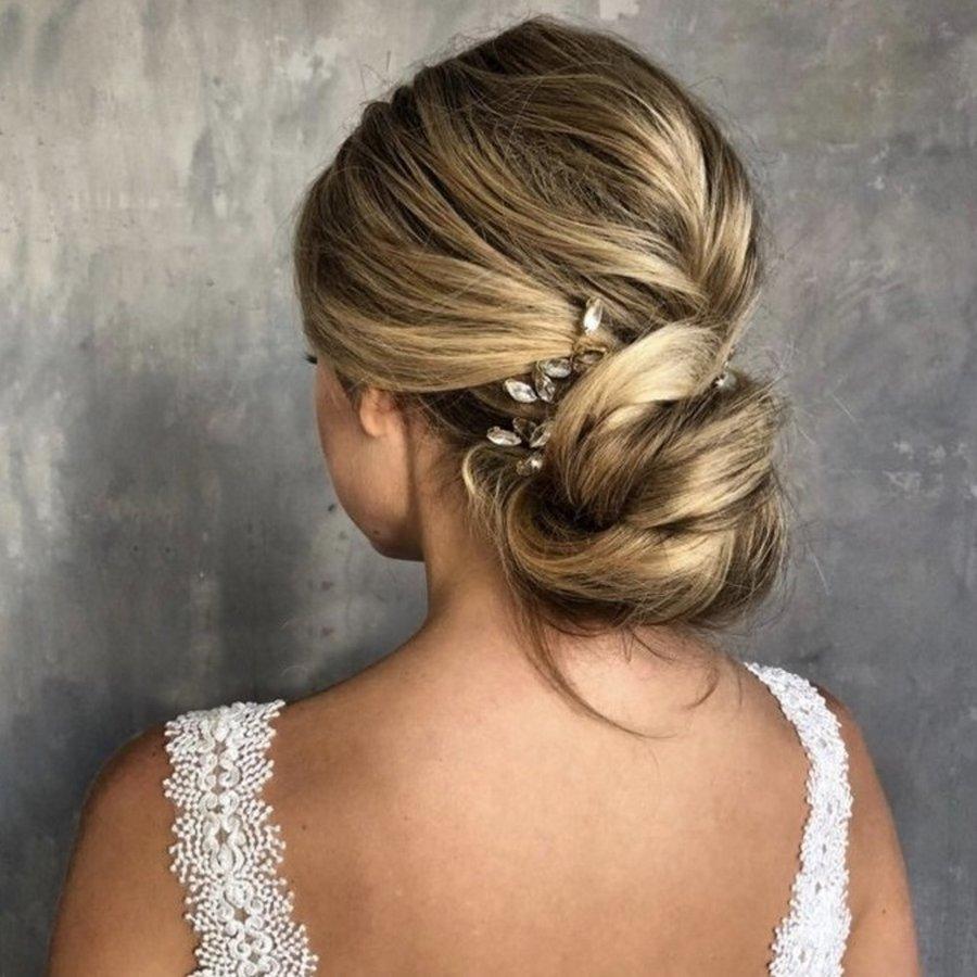 Goudkleurige Hairpins met Glimmende Diamanten - 2 Stuks-2