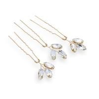 thumb-Goudkleurige Hairpins met Glimmende Diamanten - 2 Stuks-3