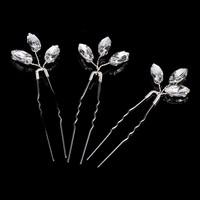 thumb-Zilverkleurige Hairpins met Glimmende Diamanten - 2 Stuks-1