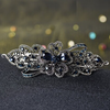 PaCaZa Elegante Haarclip - Blauw  en Zilver