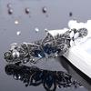 PaCaZa Fonkelende Haarclip Vlinder  - Blauw  en Zilver