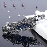 thumb-Fonkelende Haarclip Vlinder  - Blauw  en Zilver-1