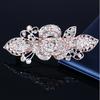 PaCaZa Rosékleurige Haarclip met Fonkelende Diamanten - Roos