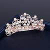 PaCaZa Rosékleurige Haarclip met Fonkelende Diamanten - Kroon