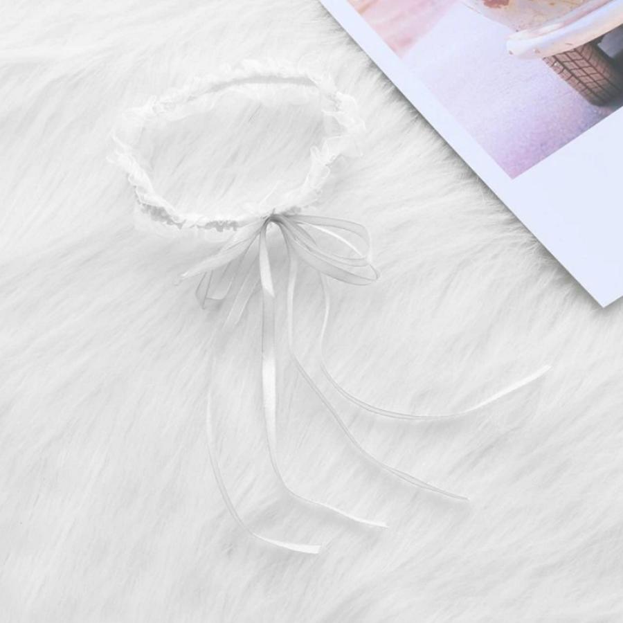 Witte Kousenband met Witte Strik-1