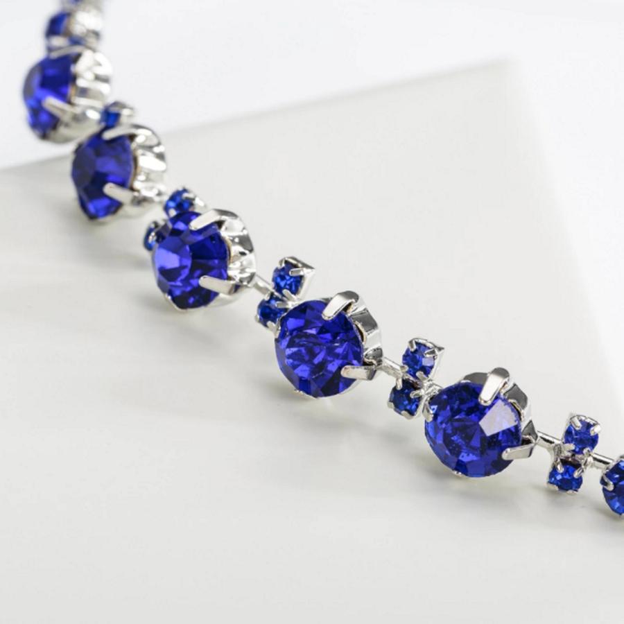 PaCaZa - Chique Diadeem met Blauwe Kristallen-2