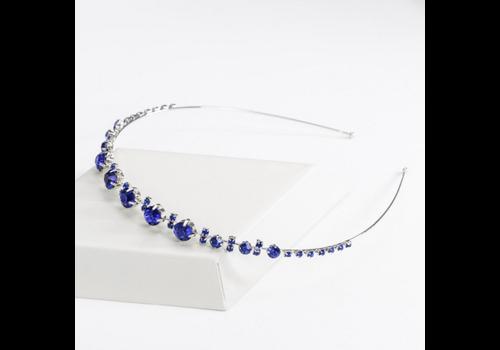 Chique Diadeem met Blauwe Kristallen