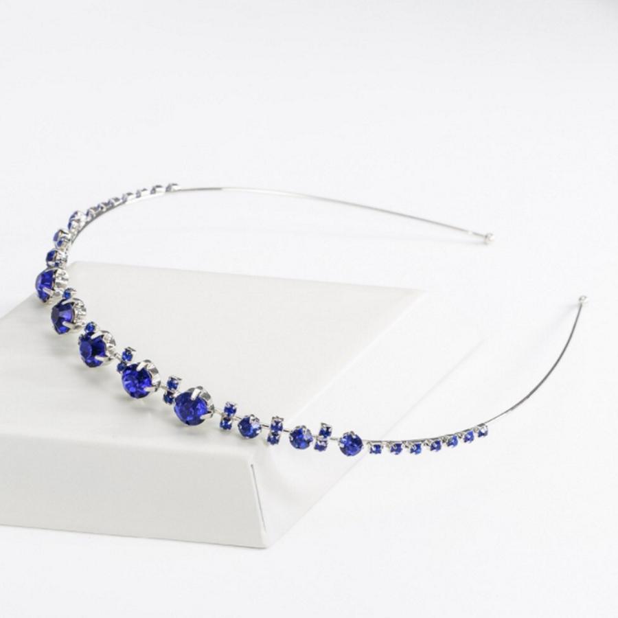 PaCaZa - Chique Diadeem met Blauwe Kristallen-1