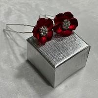 thumb-PaCaZa - Zilverkleurige Hairpins - Rood - Bloem - Parel - Diamant - 5 stuks-7