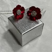 thumb-PaCaZa - Zilverkleurige Hairpins - Rood - Bloem - Parel - Diamant - 5 stuks-4