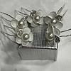 PaCaZa PaCaZa - Zilverkleurige Hairpins - Wit - Bloem - Parel - Diamantjes - 5 stuks