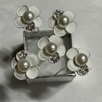 thumb-PaCaZa - Zilverkleurige Hairpins - Wit - Bloem - Parel - Diamantjes - 5 stuks-5