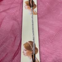 thumb-PaCaZa - Haar Sieraad / Haarband Zilverkleurig met Strass Steentjes-4