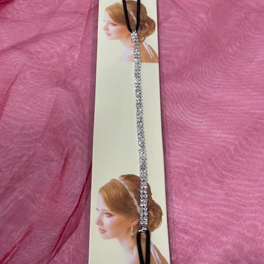 PaCaZa - Haar Sieraad / Haarband Zilverkleurig met Strass Steentjes-4